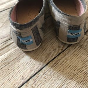 Toms Shoes - Toms canvas shoes striped blue and gray size 11